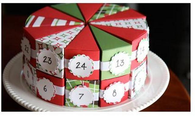 Адвент-календарь в виде тортика