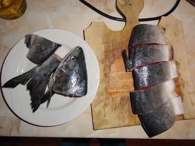 Уха и второе блюдо из одной горбуши