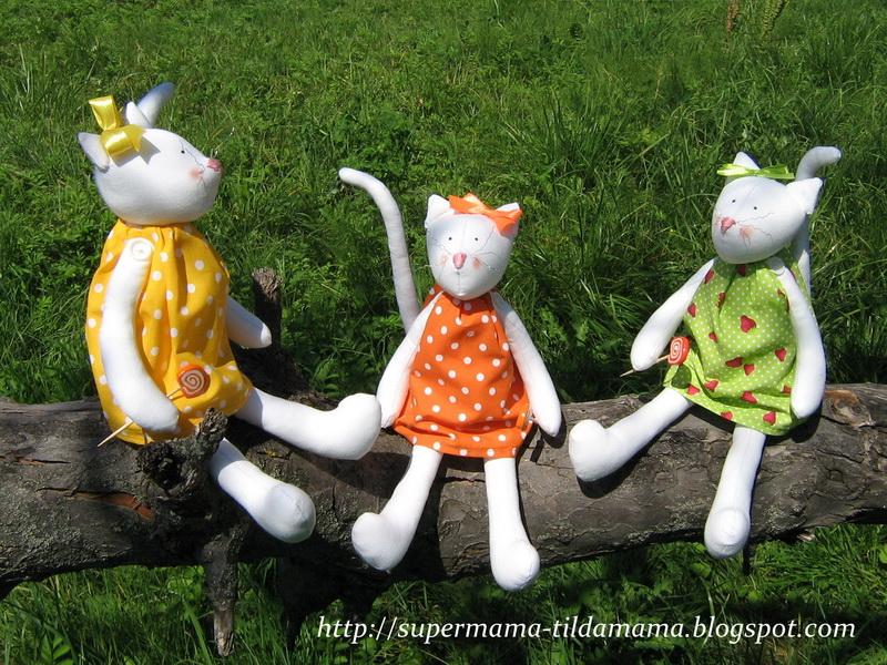 Тильды-котики от Светланы