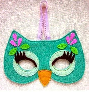 Маска совы для девочки