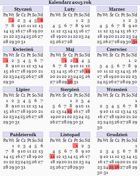 Календарь праздников в Польше