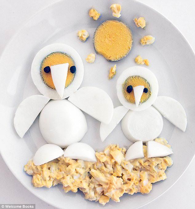 Яйца в виде птичек. Украшаем детский завтрак