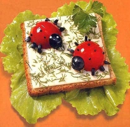 Бутерброд Божьи Коровки